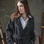 """Одежда ручной работы. Ярмарка Мастеров - ручная работа Шерстяное пальто """"Black"""". Handmade."""