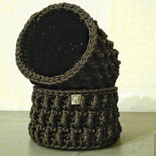 Корзины, коробы ручной работы. Ярмарка Мастеров - ручная работа. Купить Набор корзин из шнура. Handmade. Корзина, набор для кухни