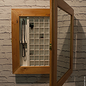 Для дома и интерьера ручной работы. Ярмарка Мастеров - ручная работа Навесной шкафчик с зеркалом для колец или наперстков. Handmade.