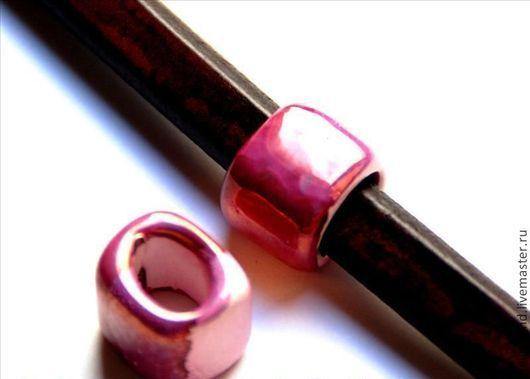 Для украшений ручной работы. Ярмарка Мастеров - ручная работа. Купить Керамические бусины регализ розовый перламутр. Handmade. Бусины