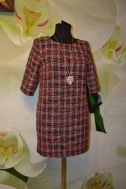 05d685a6404 Платья ручной работы. Ярмарка Мастеров - ручная работа. Купить Прямое платье  из твида.