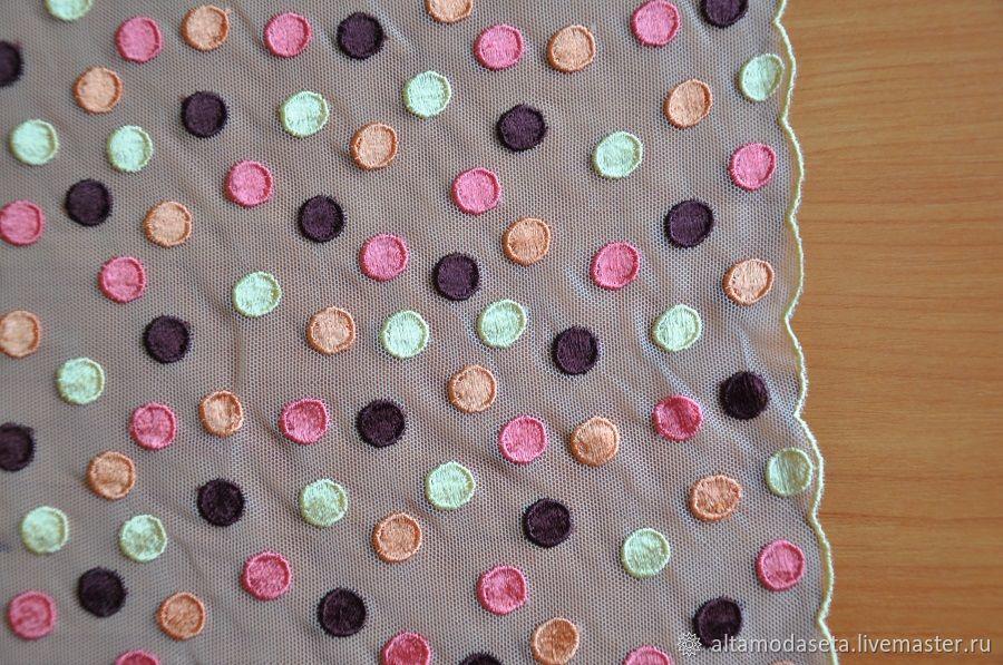 Сетка с вышивкой брендовая из Италии, Ткани, Москва,  Фото №1