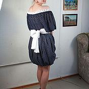 Одежда ручной работы. Ярмарка Мастеров - ручная работа Платье в горох. Handmade.