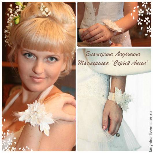 Свадебные украшения ручной работы. Ярмарка Мастеров - ручная работа. Купить Белый танец для невесты. Handmade. Белый, свадебное украшение