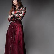 Одежда handmade. Livemaster - original item SS`18 SELECTING STYLISTS! Skirt Burgundy/cherry. Handmade.