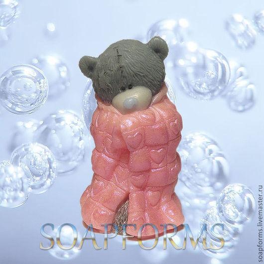 """Силиконовая форма для мыла  """"Мишка Тедди в одеяльце"""" 3 D"""