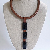 Украшения handmade. Livemaster - original item Necklace made of leather and agate. The ETERNO collection.. Handmade.