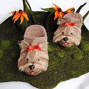 Обувь ручной работы. Ярмарка Мастеров - ручная работа Йорки. Тапочки-шлепки валяные из овечьей шерсти.. Handmade.