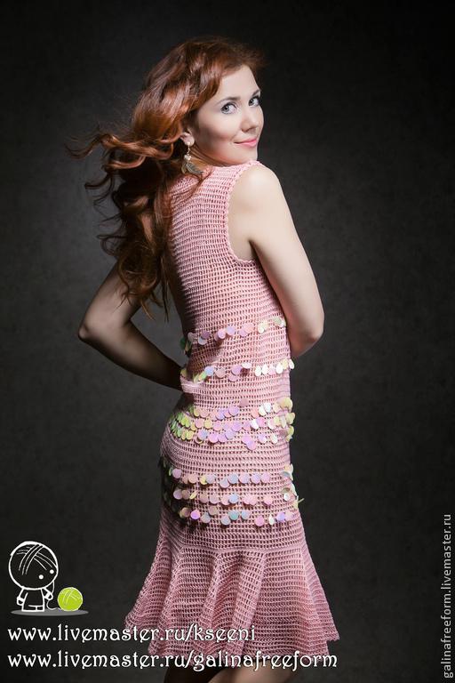 """Платья ручной работы. Ярмарка Мастеров - ручная работа. Купить Платье """"Розовый фламинго"""". Handmade. Розовый, Розовое платье"""