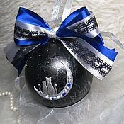 Сувениры и подарки handmade. Livemaster - original item Christmas ball with painting Lovers.... Handmade.