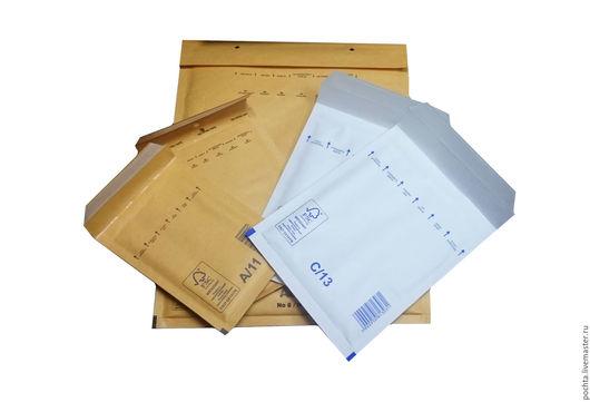 Упаковка ручной работы. Ярмарка Мастеров - ручная работа. Купить Пакет Е/15 220х265(240х275) с воздушно-пузырьковой пленкой. Handmade. Оранжевый