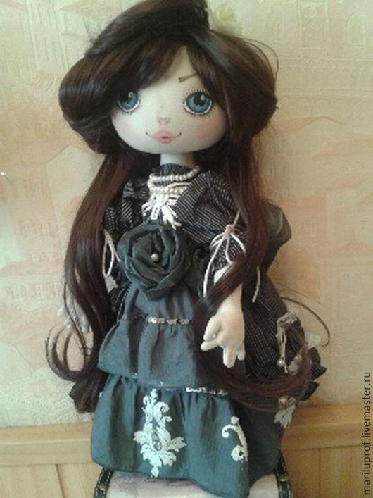 Коллекционные куклы ручной работы. Ярмарка Мастеров - ручная работа. Купить Кукла Грета. Handmade. Серый, кукла в подарок