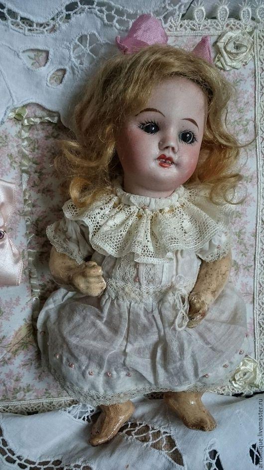 Винтажные куклы и игрушки. Ярмарка Мастеров - ручная работа. Купить Французская антикварная куколка. Handmade. Бежевый, фарфор