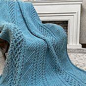 Для дома и интерьера handmade. Livemaster - original item Plush blanket for men from Alize Puffy to order. Handmade.