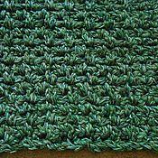 """Для дома и интерьера ручной работы. Ярмарка Мастеров - ручная работа вязаный коврик прямоугольный """"Малахит"""". Handmade."""
