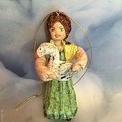 """Куклы и пупсы ручной работы. Ярмарка Мастеров - ручная работа Ватная игрушка """"Дуняша"""".. Handmade."""