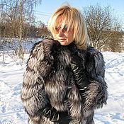 Одежда ручной работы. Ярмарка Мастеров - ручная работа Шуба из финской чернобурки. Handmade.
