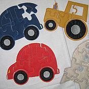 Куклы и игрушки ручной работы. Ярмарка Мастеров - ручная работа Пазлы из фетра/ иск кожи/ иск замши PUZZLE. Handmade.