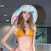 """Шляпы ручной работы. Ярмарка Мастеров - ручная работа Шляпа из джинсовой ткани """"Джинсовые цветы"""" с широкими мягкими полями. Handmade."""