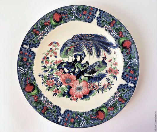 Винтажная посуда. Ярмарка Мастеров - ручная работа. Купить Блюдо большое, фарфоровое, Япония. Handmade. Блюдо, китайский фарфор, посуда