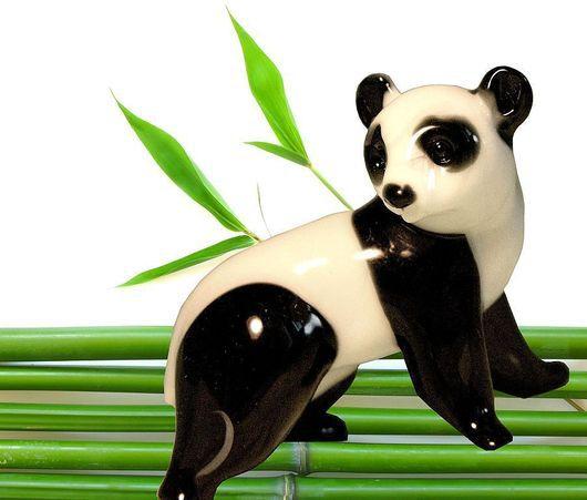 Подарки для влюбленных ручной работы. Ярмарка Мастеров - ручная работа. Купить стеклянная фигурка панда. Handmade. Панда