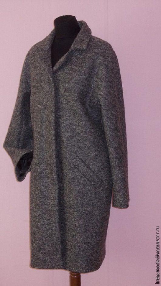 """Верхняя одежда ручной работы. Ярмарка Мастеров - ручная работа. Купить Демисезонное пальто """"Меланж"""". Handmade. Темно-серый"""