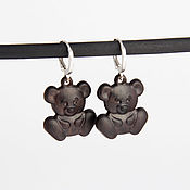 Украшения handmade. Livemaster - original item Bears earrings. Handmade.