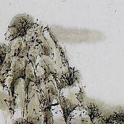 Картины и панно ручной работы. Ярмарка Мастеров - ручная работа картинаМостик(китайская живопись пейзаж сосны восточный интерьер). Handmade.