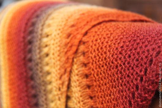 Шали, палантины ручной работы. Ярмарка Мастеров - ручная работа. Купить Шаль Осень (датская шаль традиционная). Handmade. Разноцветный