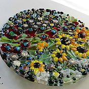 """Посуда ручной работы. Ярмарка Мастеров - ручная работа фьюзинг тарелка """"Сад"""". Handmade."""