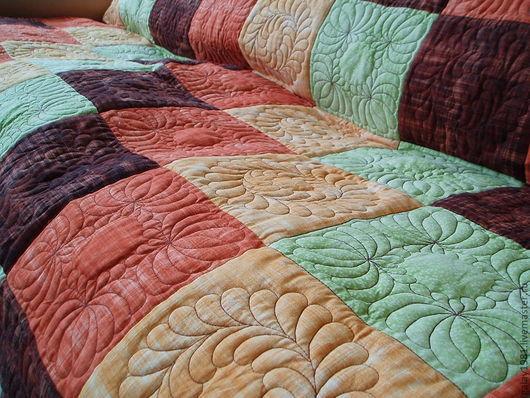 Текстиль, ковры ручной работы. Ярмарка Мастеров - ручная работа. Купить Покрывало.. Handmade. Покрывало пэчворк, лоскутное квадраты, синтепон