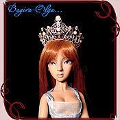 """Свадебный салон ручной работы. Ярмарка Мастеров - ручная работа диадема """"Царица Морей"""" для куклы. Handmade."""