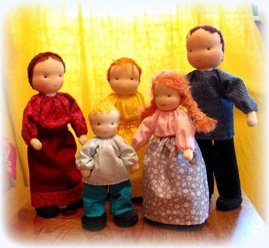 Вальдорфская игрушка ручной работы. Ярмарка Мастеров - ручная работа. Купить Вальдорфские куклы для кукольных сказок  для детей от 6-лет. Handmade.