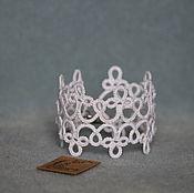 Свадебный салон ручной работы. Ярмарка Мастеров - ручная работа Кружевной Браслет Белый. Handmade.