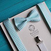 Аксессуары handmade. Livemaster - original item Suspenders tie mint Provence / butterfly tie, suspenders. Handmade.