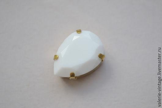 Для украшений ручной работы. Ярмарка Мастеров - ручная работа. Купить Винтажные кристаллы Swarovski 18х13 мм. Chalkwhite. Handmade.