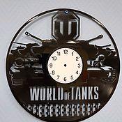 Часы из виниловых пластинок ручной работы. Ярмарка Мастеров - ручная работа Часы из виниловых пластинок Танки. Handmade.