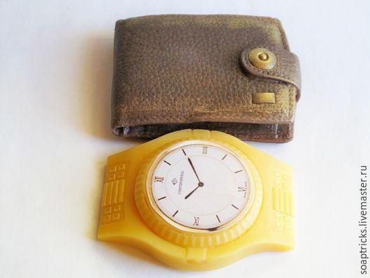 Мыло ручной работы. Ярмарка Мастеров - ручная работа. Купить Мыло набор Портмоне+часы. Handmade. Комбинированный, 23 февраля подарок