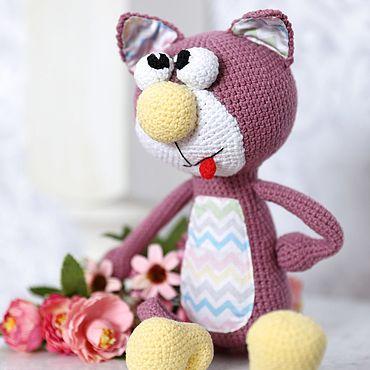 Куклы и игрушки ручной работы. Ярмарка Мастеров - ручная работа Вязаный кот Арчи. Handmade.