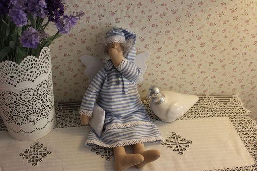 """Куклы Тильды ручной работы. Ярмарка Мастеров - ручная работа. Купить Тильда """"Ангел сна"""". Handmade. Голубой, подарок на новый год"""