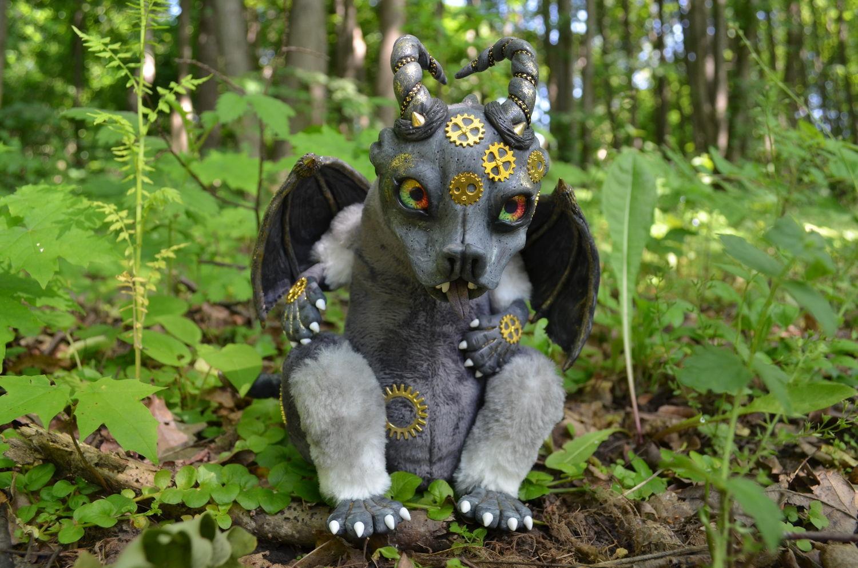 Дракон игрушка Гаргулья Техно Стимпанк, Мягкие игрушки, Тула,  Фото №1