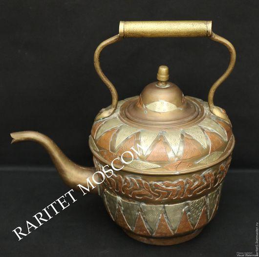 Винтажная посуда. Ярмарка Мастеров - ручная работа. Купить Чайник антикварный медь латунь бронза Deposee 32. Handmade. Англия
