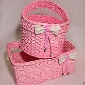 """Для дома и интерьера ручной работы. Ярмарка Мастеров - ручная работа Корзинки """"Розовый дуэт"""". Handmade."""