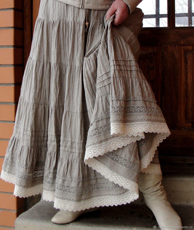 1aa3d7bf0d Skirts handmade. Livemaster - handmade. Buy Skirt linen 3 copyright. Long  summer skirt ...