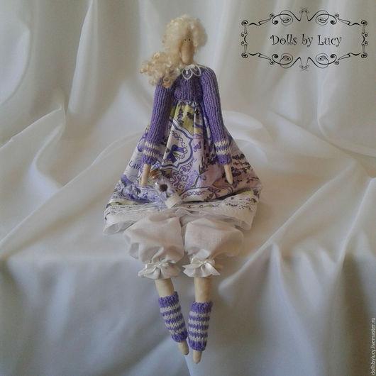 Куклы Тильды ручной работы. Ярмарка Мастеров - ручная работа. Купить Кукла в стиле Тильда Лавандовый ангел. Handmade. Сиреневый