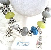 "Украшения handmade. Livemaster - original item Halloween.bracelet style Pandora ""Women`s magic"". Handmade."
