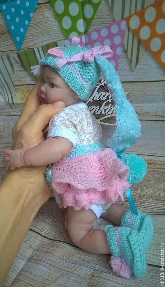 """Одежда для кукол ручной работы. Ярмарка Мастеров - ручная работа. Купить """"Мамина Зая"""" комплект для куклы. Handmade. Бирюзовый, для куклы"""