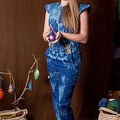 Одежда ручной работы. Ярмарка Мастеров - ручная работа Джинсово-хлопковый комбинезон. Handmade.