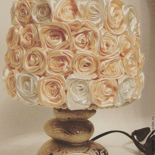 Освещение ручной работы. Ярмарка Мастеров - ручная работа. Купить Лампа-ночник с абажуром. Handmade. Кремовый, лампа ручной работы