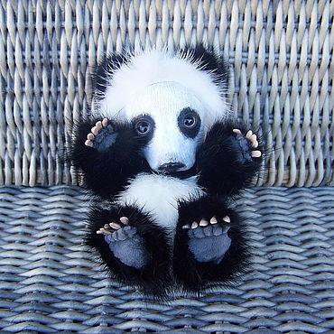 Куклы и игрушки ручной работы. Ярмарка Мастеров - ручная работа Игрушки: Панда тедди Пьеро. Возможна рассрочка.. Handmade.